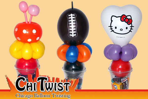 Flower Football Hellow Kitty Candy Cup Balloons