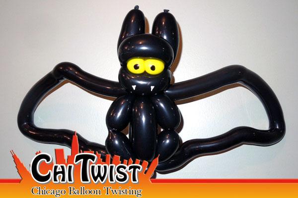 bat halloween balloon - Halloween Balloon Animals