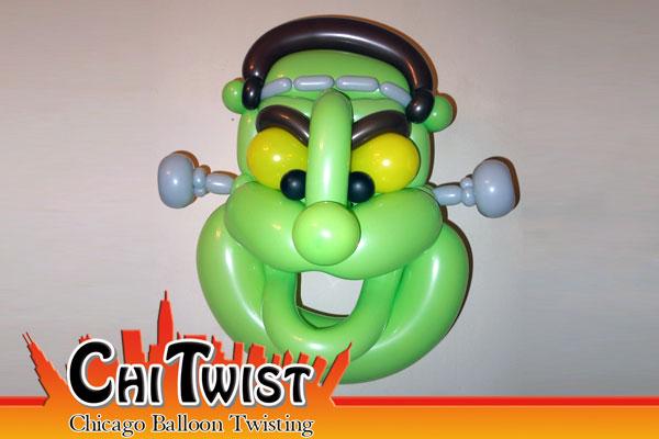 frankenstein mask halloween balloon - Halloween Balloon Animals