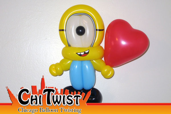 Minion Valentine's Day Balloon